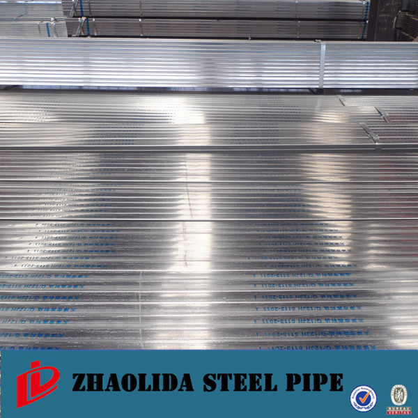 1387 hot diped galvanized ! erw perforated galvanized square steel pipe s235jr rectangular galvanized steel pipe/tube