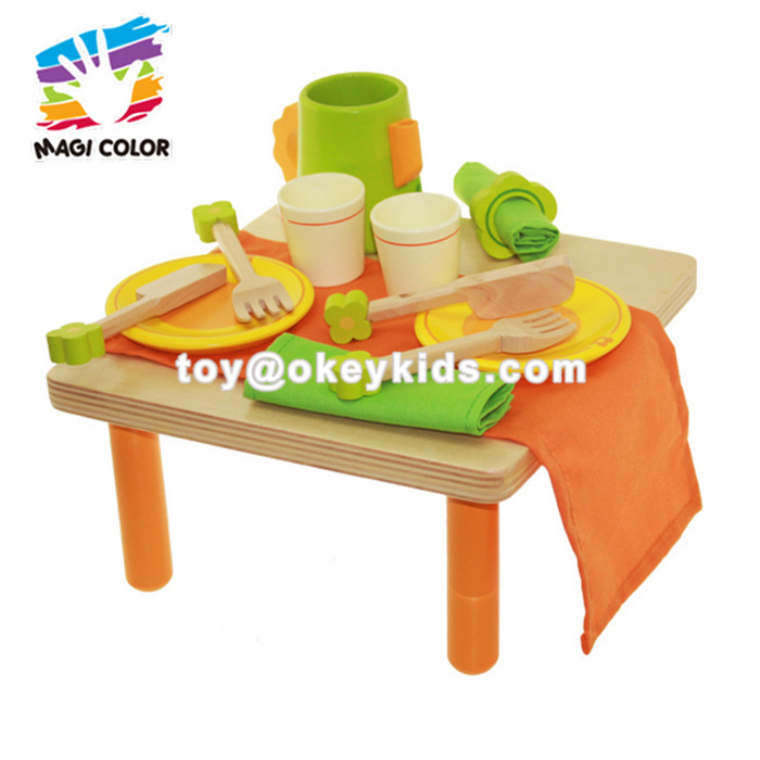 Wholesale modern style wooden grocery stand toy for children's play house W10A048