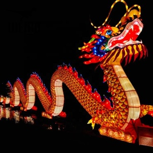 Weibodino handmade chinese new year dragon boat lantern