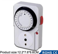 Mechanical timer control socket with plug