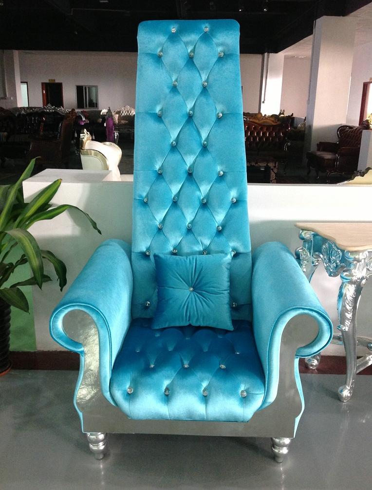 Nail spa chair high back velvet chair throne nail chair for Spa furniture