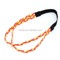Braided Headband Skinny Elastic Hair Band for Sports