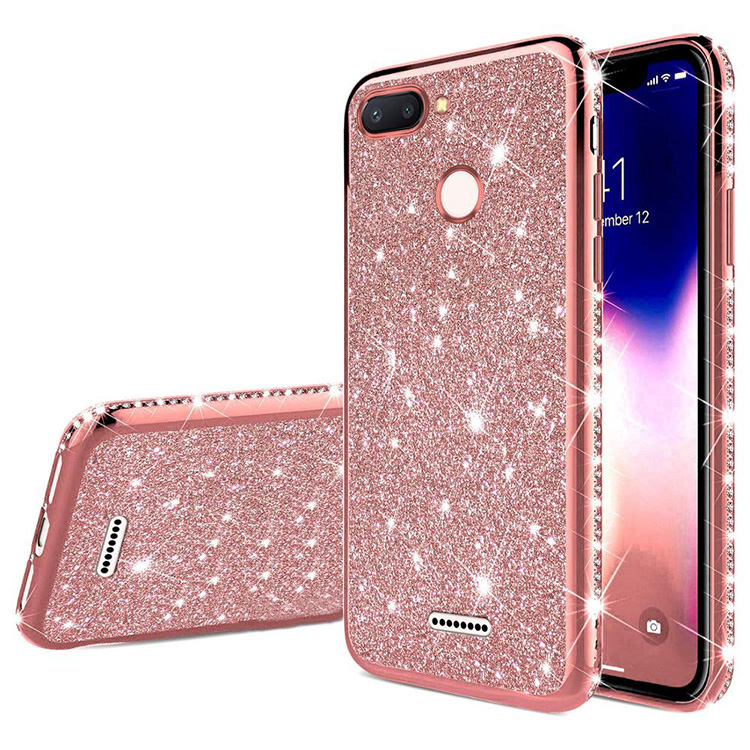 Diamond Bling TPU Phone <strong>Case</strong> For Xiaomi 6 6X 8 8SE 9 9SE Phone <strong>Case</strong> Back Cover