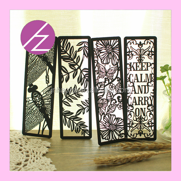 2016 decorative bookmarks paper craft bookmark flower for A t design decoration co ltd