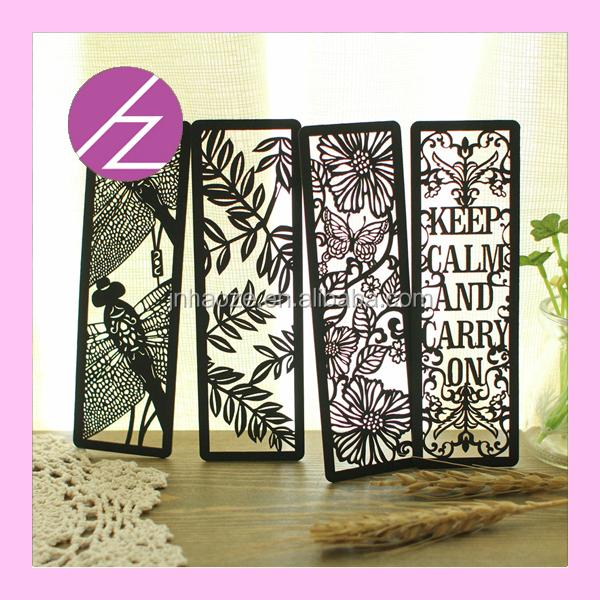 2016 decorative bookmarks paper craft bookmark flower for A t design decoration co ltd