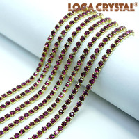 LOCACRYSTAL brand rhinestone metal hair claw christmas tree decorative plastic chain