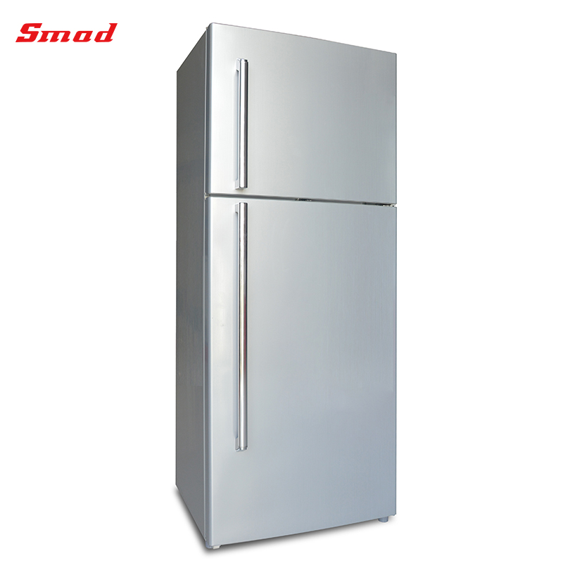Home Manual Defrosting Double Door Fridge Refrigerator With Locking Door