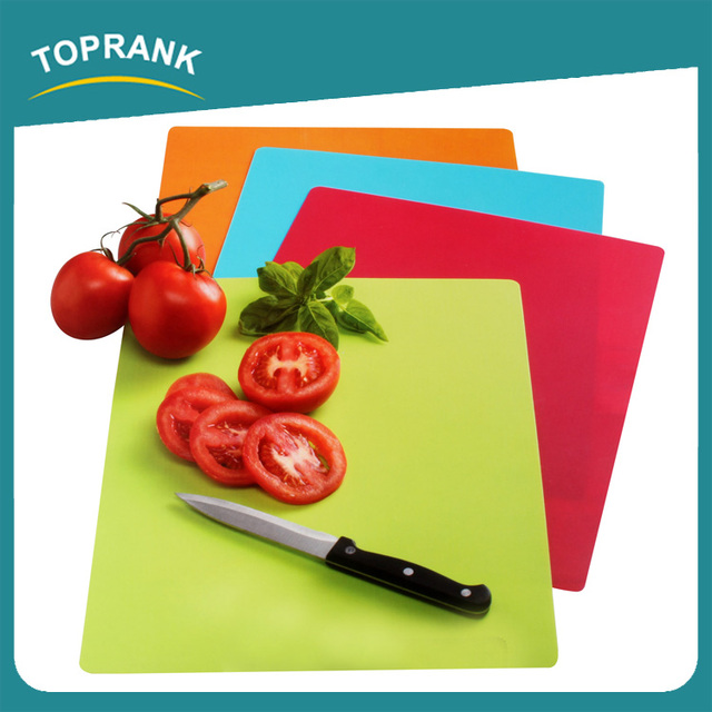 Toprank Hot Sale Colorful Anti-slip Plastic Blank Fruit Vegetable Cutting Board Kitchen Flexible Cutting Board
