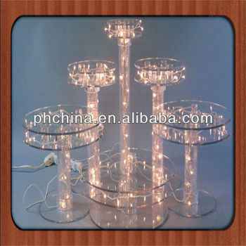 acrylic wedding cake stands with lights an a534 modern design factory sell lighted acrylic cake 10537