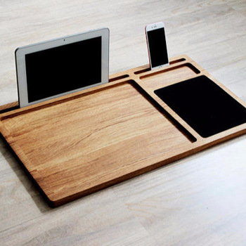 Super Wood Office Supply Portable Laptop Desk Wood Lap Tray With Phone Holder Buy Office Supply Laptop Desk Phone Holder Product On Alibaba Com Interior Design Ideas Truasarkarijobsexamcom