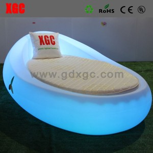 New Arrival Rotational Molding Plastic Hollow Structure Illuminated Round Shape Hote Bed