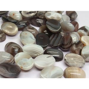 High quality natural gemstone 13x18 mm Banded Agate oval cabochon
