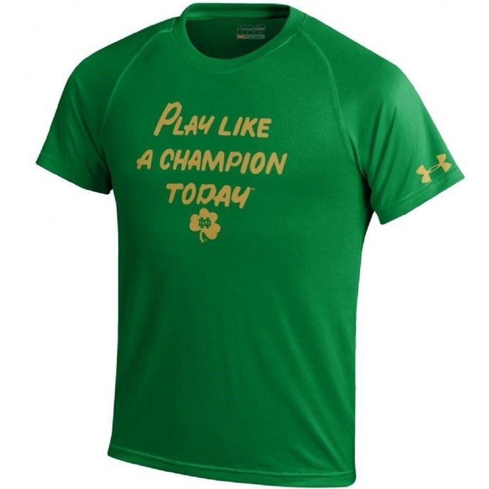 ff5c5f2a Get Quotations · Under Armour NCAA Youth-Notre Dame Fighting Irish-Play Like  a Champion Today-