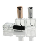 Wholesale 10ml Clear Transparent Square Nail Polish Glass Bottle with Brush Cap (NG01)