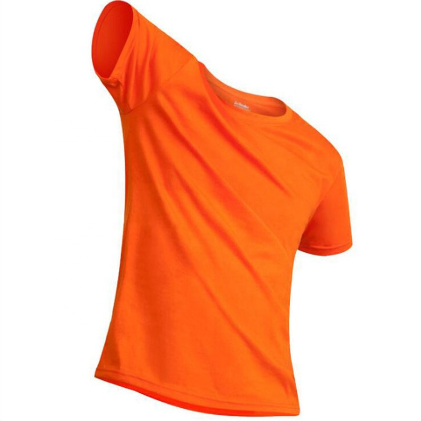 Wholesale quality tshirt Orange Solid Color combed cotton blank T Shirt for <strong>Mens</strong>