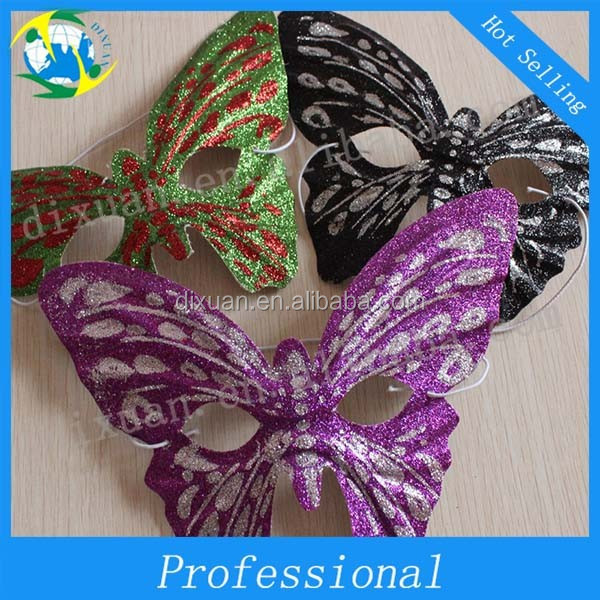 Soft butterfly gold mask bar ted Christmas evening party supplies masquerade mask