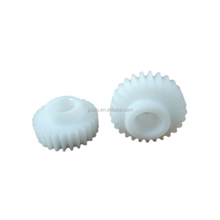 Light weight injection molded nylon helical plastic bevel gear