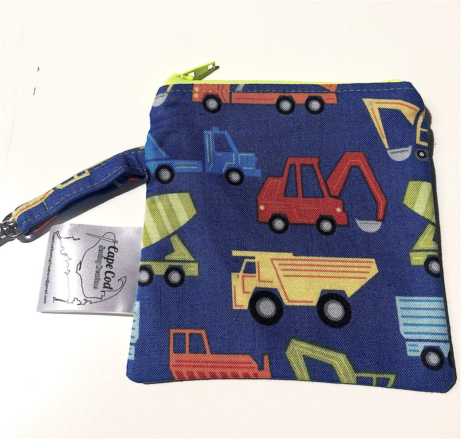 Reusable Snack Zipper bag, Dog Treats Pouch, Trucks, Vehicles Snack Bag, Puppy Training, Plastic Alternative