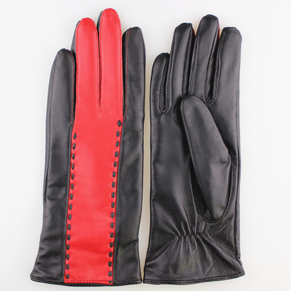 women new style fashion design leather glove in Europe