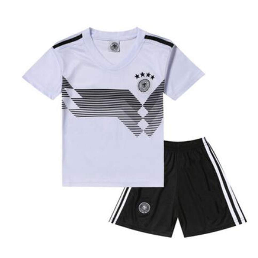 41ae5e20d Get Quotations · Sykdybz German Jersey Children s Soccer Clothing Suit 2018  Football Clothes Primary School Boys and Girls Gifts