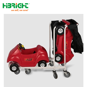 Hot sale nestable supermarket children shopping cart with mesh bag