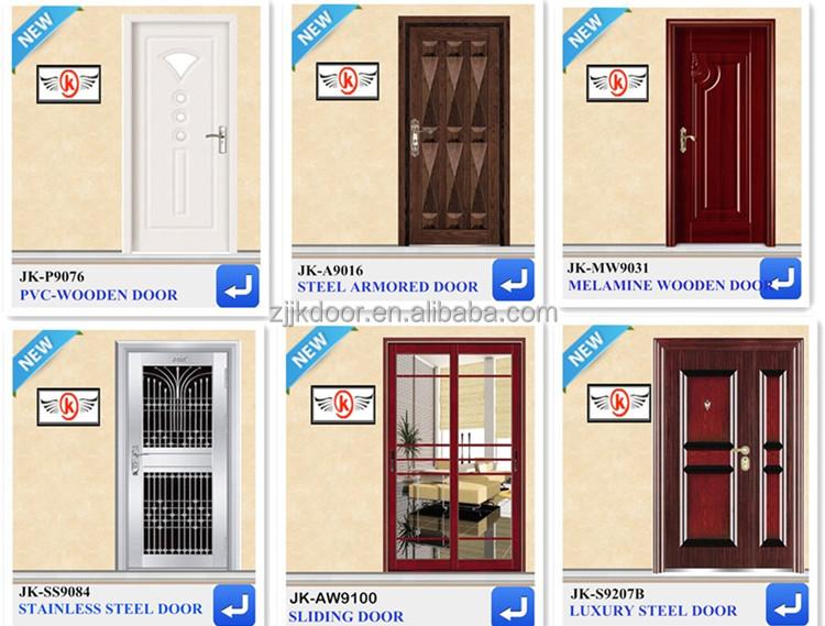 Steel Doors Design For Home: Jk-s9227 Modern Decorative Steel Entry Door Interior