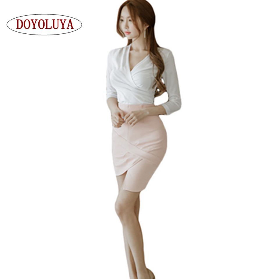 Pink Skirt Suits 63