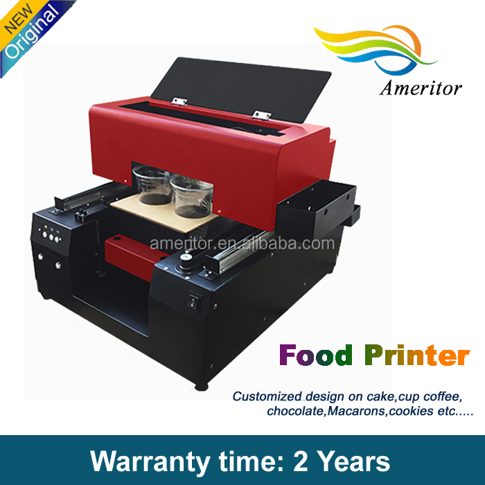 Charming prouct Food digital edible inkjet flatbed printer for milk foam Coffee art printer