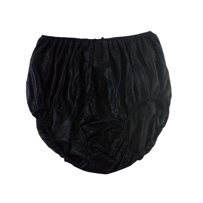 7c95d68c3 Get Quotations · Retro Vintage Style Black Strip Panties Briefs Sheer Nylon  Underwear For Women   Men Plus Size