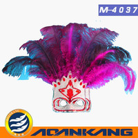 hotsale ostrich feather mask for adult ---China supplier