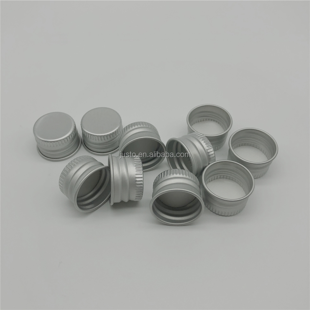 18/410mm Aluminum Silver Screw Top Caps For Glass Cosmetic Bottles