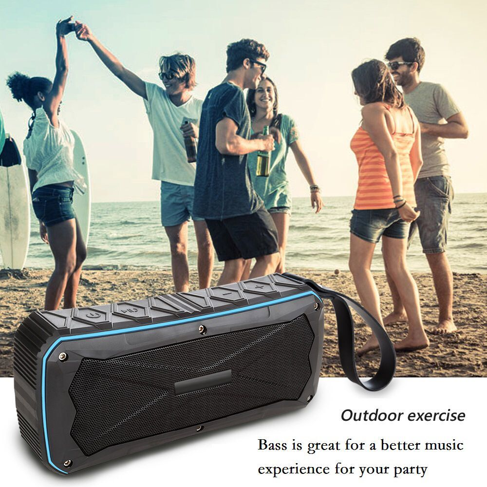Activated Portable Wireless Bluetooth Speaker Waterproof IP66 Outdoor Speaker Loud MP3 Music 16W Powered