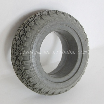 Stair Climbing Solid PU Foam Rubber Wheel For Trolley Trash Bin