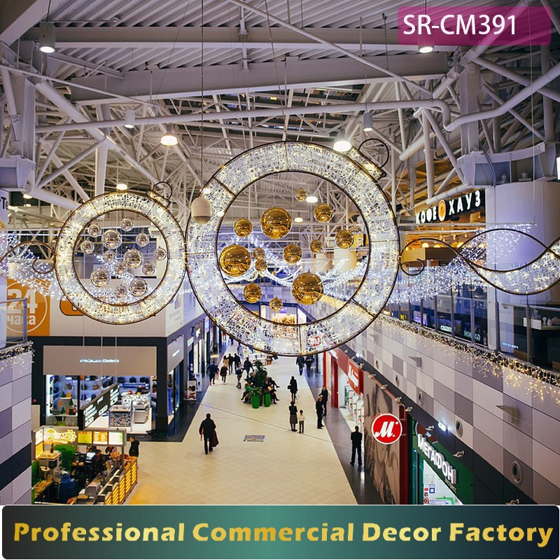shop ceiling material ideas - Custom mercial Shopping Mall Hanging Christmas