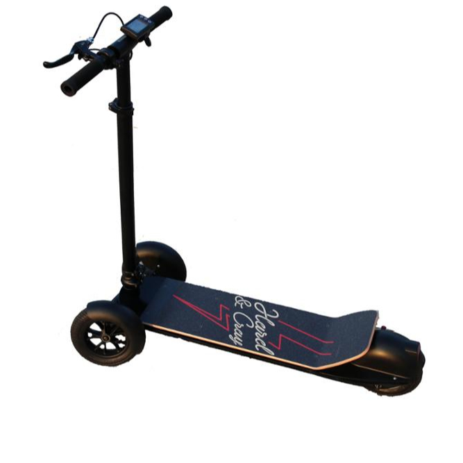 foldable smart e scooter 3 wheel adult electric skateboard
