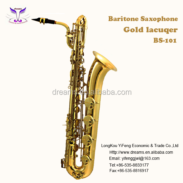 Good Quality Music Instrument Brass Body Saxophone Baritone