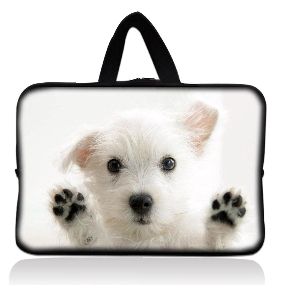 "White Dog Universal 7"" 7.7"" 8"" Carrying Bag Case Cover Bag Sleeve + Handle for 7"" Samsung Galaxy Tab 2 Tab 3, Ipad Mini,Amazon 2 3 4 Kindle Fire, Touch, Fire HD,Asus Google Nexus 7,LeapFrog LeapPad 2,Asus Memo Pad ME172V,BlackBerry PlayBook,HP Slate 7,Kurio 7,Barnes & Noble NOOK Color,Pendo Pad 7"""