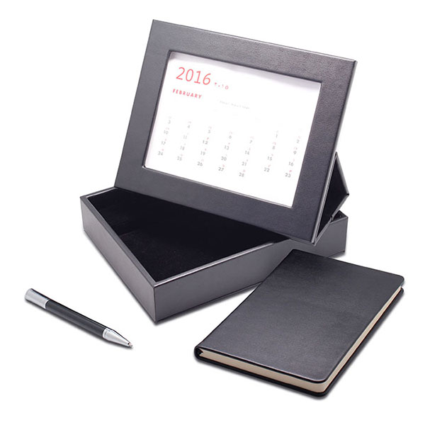 creative gifts 2017 office stationery set with leather desk calendar