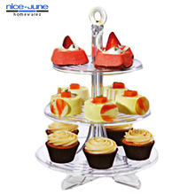 Detachable Acrylic Tiered Cake Stand Cup cake Stand Plastic Display Stand for Wedding Cake