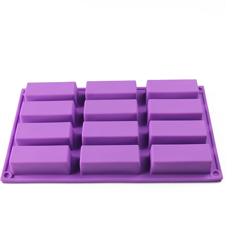 Handmade Ice Cube Tray Biscuit Candy Chocolate Bar Mould 12 cavities rectangle silicone soap mold