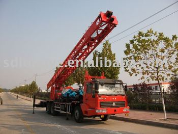Truck-mounted water well drilling rig