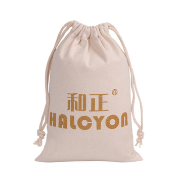 120g Customized Logo100% Small Cotton Bag Pouch Cotton Muslin Drawstring Bag For Gift