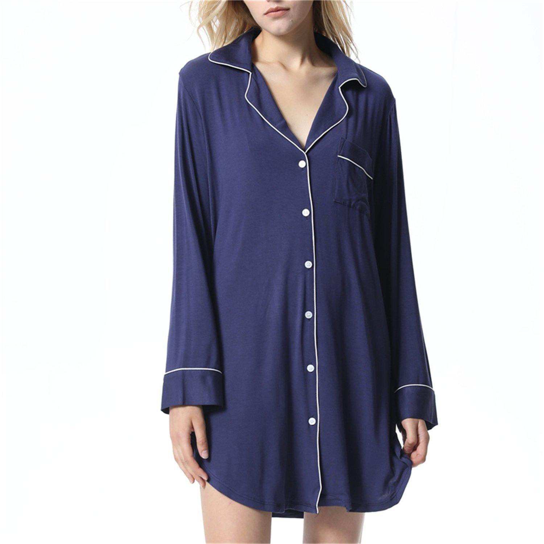 Get Quotations · Stomsera Sleepshirts Sexy Elegant Indoor Clothing Solid  Nightwear Sleep   Lounge Nightgown 2aff6ec84