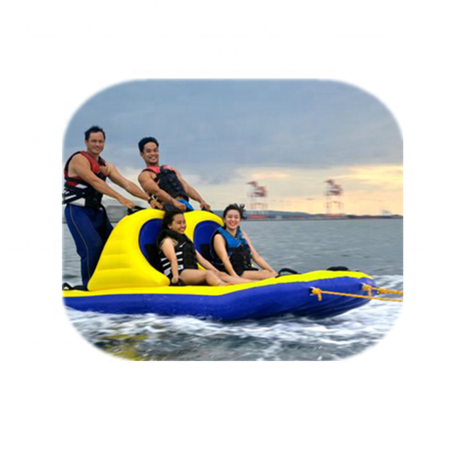 Inflatable Band Wagon for Water Parks/Towable Inflatable Water Boat /Inflatable water slippers boat for kids and adults