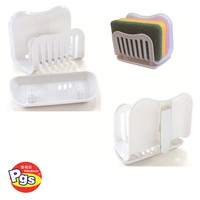 wall mounted adhesive plastic sponge holder bathroom accessory