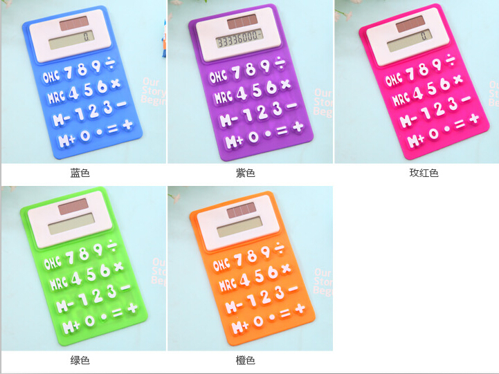 Wj022 Korean Keyboard Style Color Office Use Silicone Fancy Calculator  Wholesale - Buy Fancy Calculator,Fancy Calculator Wholesale,Silicone Fancy