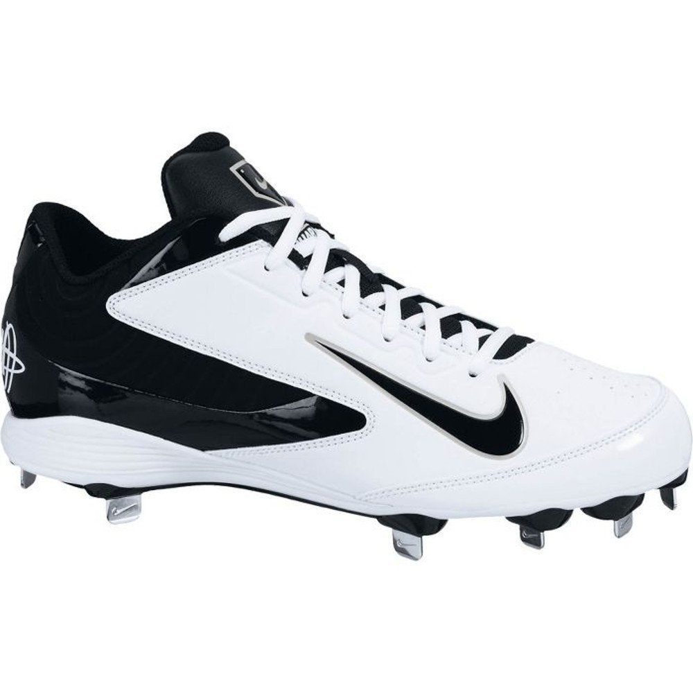 huge selection of 5717f b20ea Get Quotations · NEW Nike Huarache Strike Low Baseball Cleats White   Black  Size 11.5 M