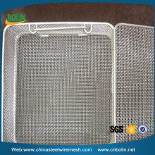 304 stainless steel metal wire mesh fruit basket with net cover (free sample)