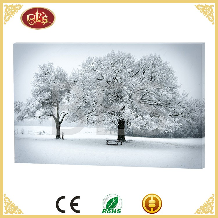 famous winter lighted christmas canvas art