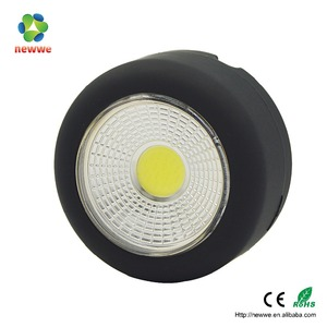 3w COB LED plastic mini round magnetic hook work light outdoor emergency portable led tractor work lights led work lamp